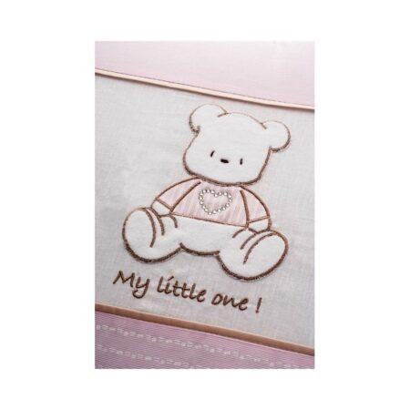 Σετ προίκας Little One baby bear pink Swarovski.