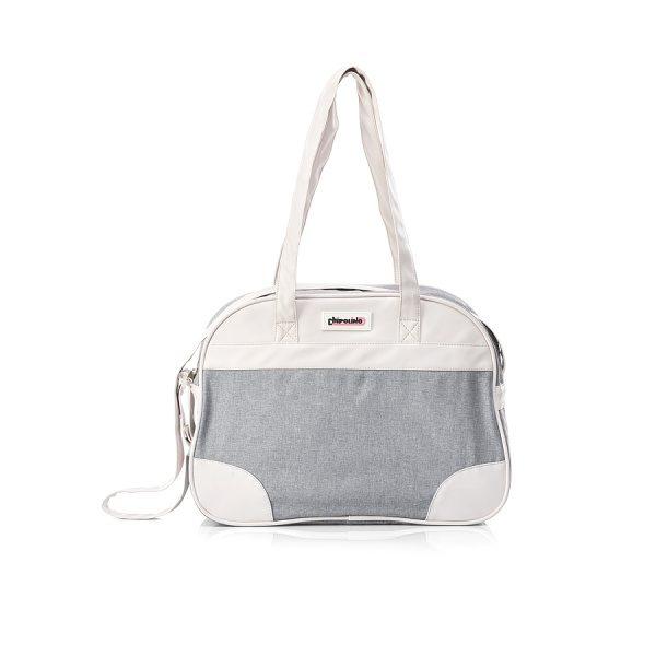 Tσάντα αλλαγής λινό-δέρμα Chipolino grey