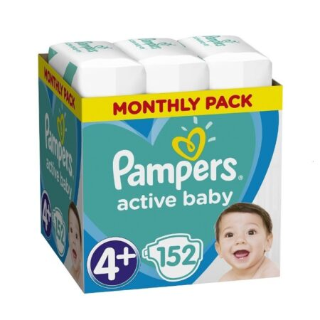 Πάνες Ρampers Active baby Monthly Pack Νο4+152 τεμ