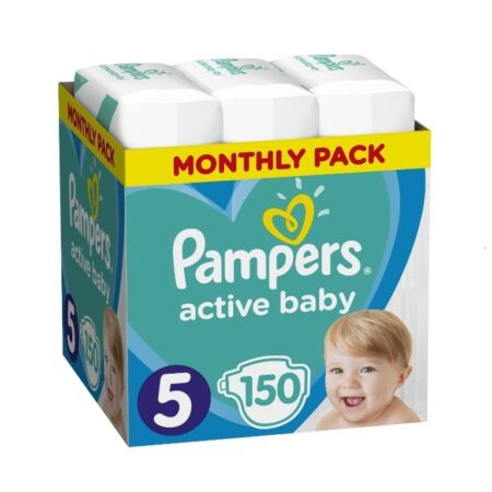 Πάνες Ρampers Active baby Monthly Pack Νο5 150 τεμ