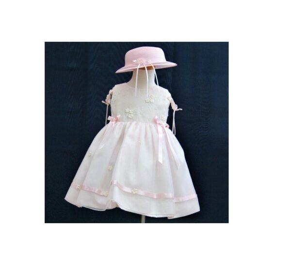 βαφτιστικο φορεμα με καπελο