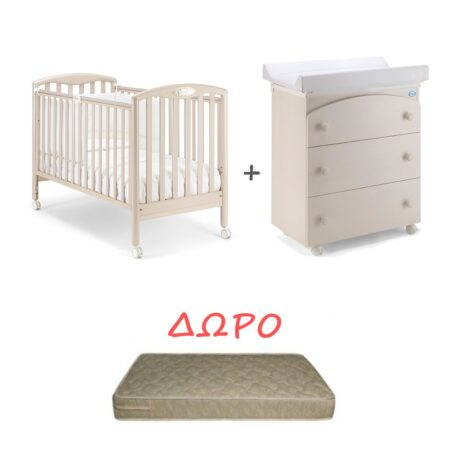 Set Κρεβατάκι και Αλλαξιερα Pali Dado Bianco Classico