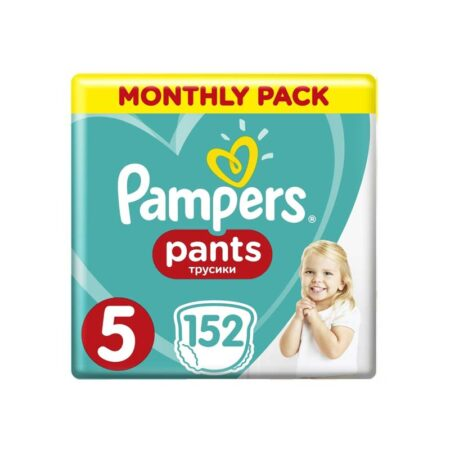 Pampers Pants μεγ. 5 (12-18kg) - 152 τεμάχια Monthly Pack