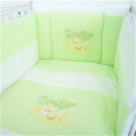 Σετ προίκα μωρού κέντημα κουνουπιέρα BEAUTY Green Best Friends