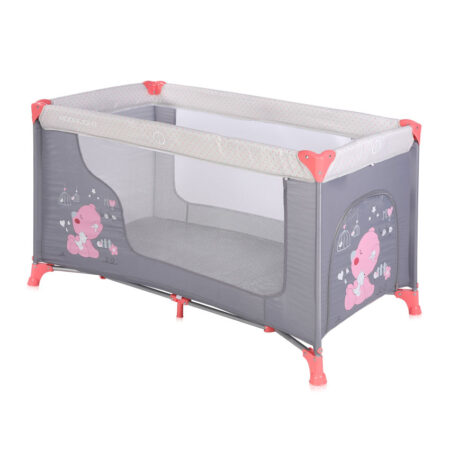 fed6a495941 Παρκοκρέβατο 2 θέσεων Lorelli Moonlight Pink & Grey My Baby