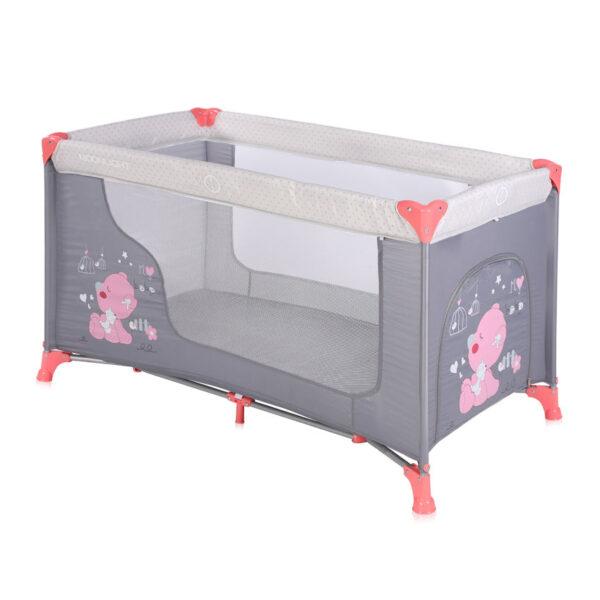 Παρκοκρέβατο 2 θέσεων Lorelli Moonlight Pink Grey My Baby