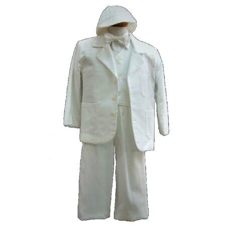 Βαφτιστικό Κουστούμι Όλο Λευκό 200119