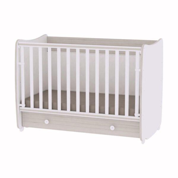Κρεβάτι μετατρεπόμενο 70-140 Lorelli Dream White - Light Oak 10150440036A