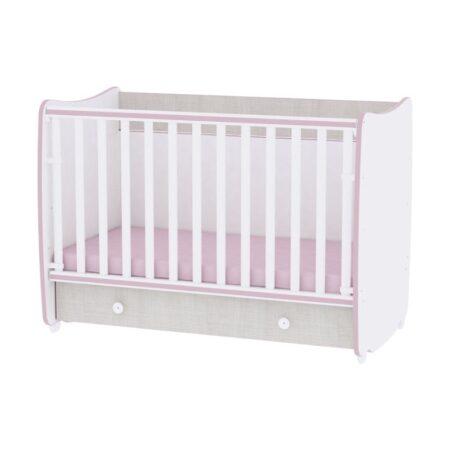Κρεβάτι 60-120 μετατρεπόμενο Lorelli Dream White Pink Crossline