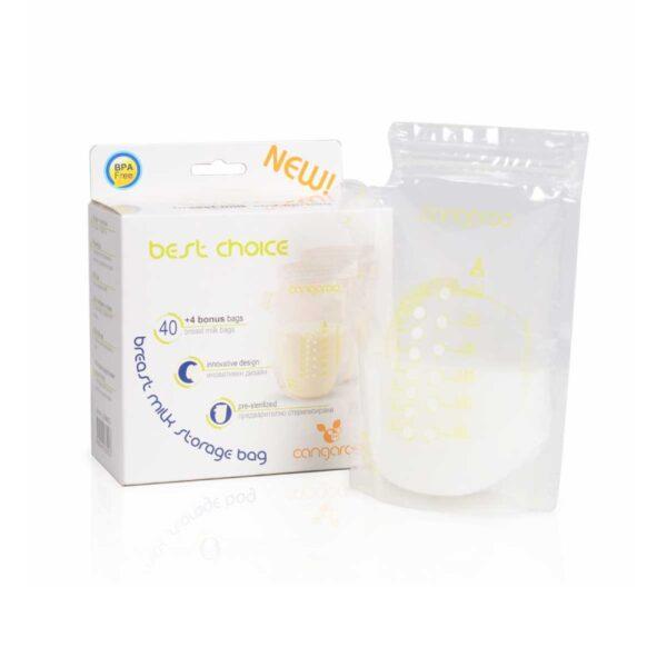 Σακουλάκια φύλαξης μητρικού γάλακτος Cangaroo Best Choise 3800146261023