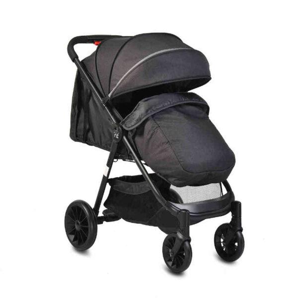 Πολυκαρότσι με κάθισμα αυτοκινήτου Cangaroo Sindy 2 in 1 Black 3800146234973