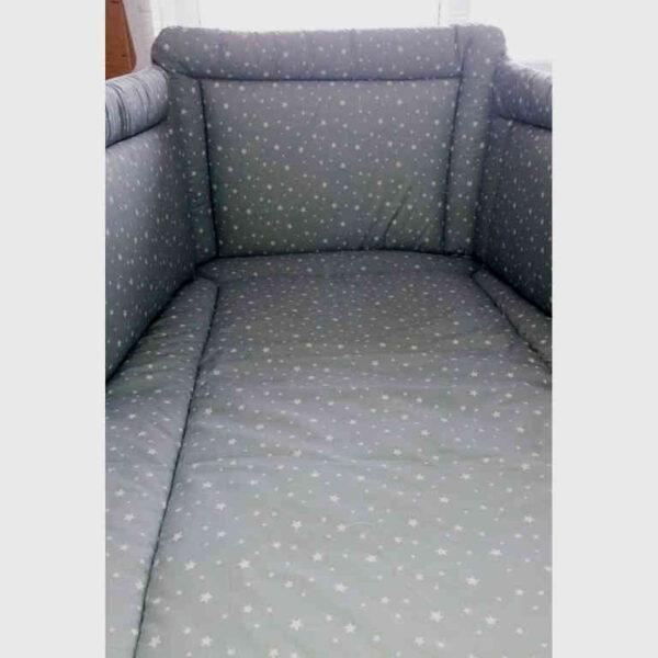 Σετ Προίκα Μωρού 3 τεμ. Natalino-Bebelino Grey Stars NB001