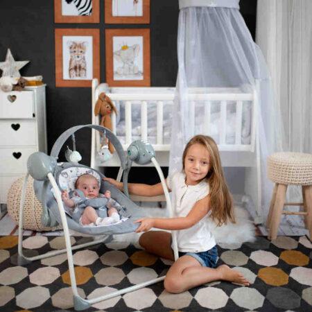Κούνια Ρηλάξ Lorelli Baby swing Portofino Grey 10090061901