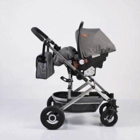 Πολυκαρότσι με κάθισμα αυτοκινήτου 3 σε 1 Moni Ciara Grey 3800146235178