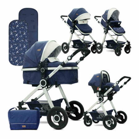Πολυκαρότσι 3 σε 1 Lorelli Alexa Set Dark Blue Birds 10021291985