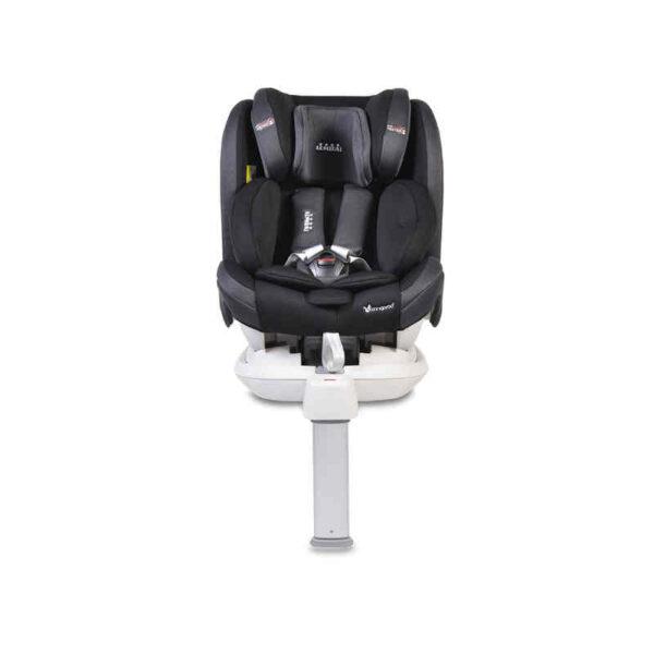 Κάθισμα αυτοκινήτου Isofix με τηλεσκοπικό πόδι 0-36 kg Cangaroo Admiral Black 3800146239978 Δώρο Προστατευτικό πλάτης καθίσματος αυτοκινήτου