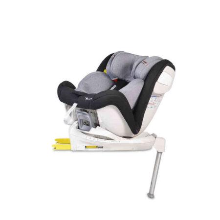 Κάθισμα αυτοκινήτου Isofix με τηλεσκοπικό πόδι 0-36 kg Cangaroo Admiral Black 3800146239978