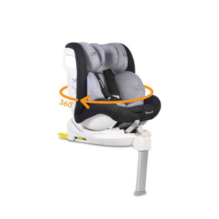 Κάθισμα αυτοκινήτου Isofix με τηλεσκοπικό πόδι 0-36 kg Cangaroo Admiral Dark Grey 3800146239992