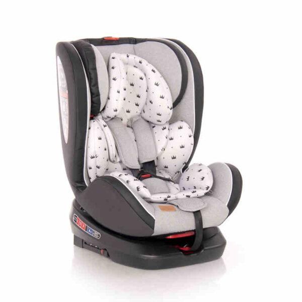 Κάθισμα αυτοκινήτου Isofix 0-36 kg Lorelli Nebula Rot.Grey Crowns 10071382094