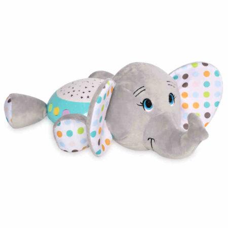 Φωτιστικό νυκτός, παιχνίδι με φώτα και μουσική Lorelli Night Light Elephant 10280140006