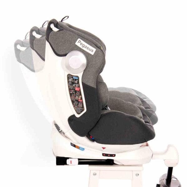 Κάθισμα αυτοκινήτου Isofix 0-36 με πόδι στήριξης Lorelli Pegasus Grey Violet 10071462101