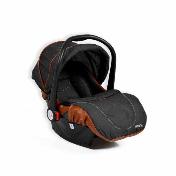 Πολυκαρότσι με κάθισμα αυτοκινήτου Cangaroo Alma Black 3800146235468set