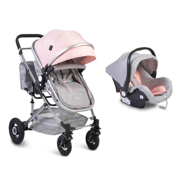 Πολυκαρότσι με κάθισμα αυτοκινήτου 3 σε 1 Moni Ciara Pink
