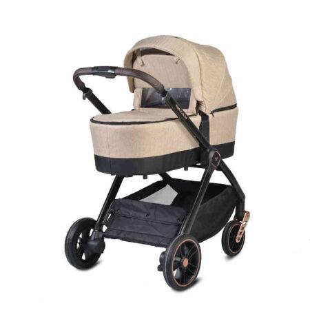 Πολυκαρόστι 3 σε 1 με κάθισμα αυτοκινήτου Cangaroo Macan Beige 3800146235284 set
