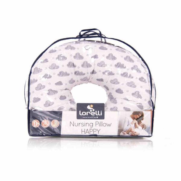 Μαξιλάρι θηλασμού σταθερό Lorelli Happy Clouds Gray 20040244903