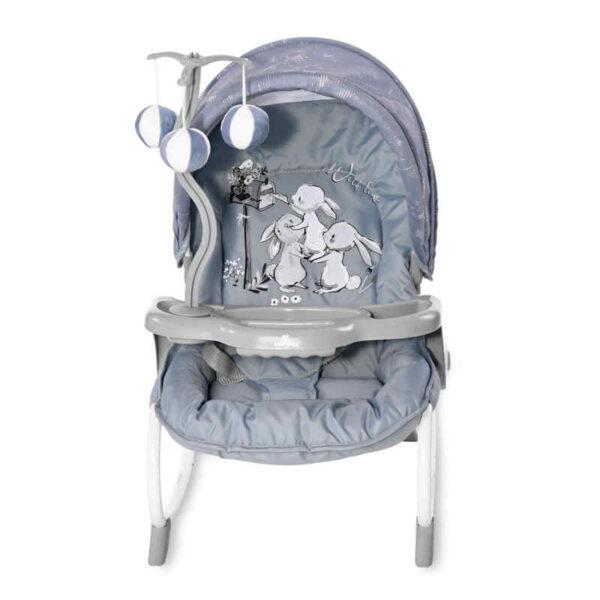 Ρηλάξ με παιχνίδι Lorelli Dream Time Silver Blue Rabbits 10110062152