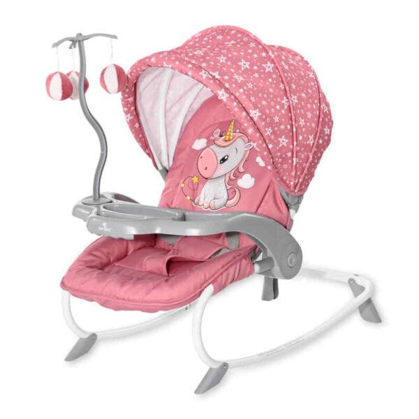 Ρηλάξ με παιχνίδι Lorelli Dream Time Rose Velvet Unicorn 10110062151