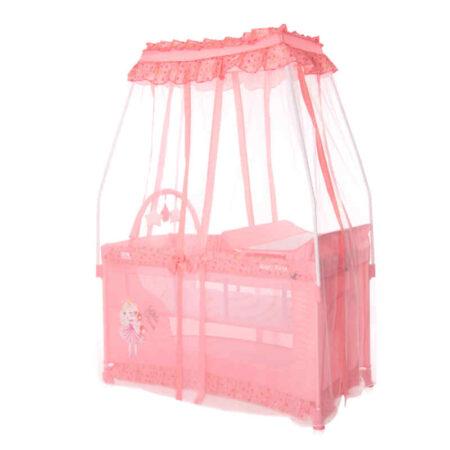 Παρκοκρέβατο με θόλο Lorelli Magic Sleep Pink Princess 10080482170