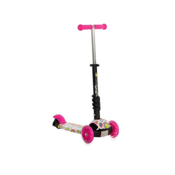 Πατίνι με κάθισμα μετατρεπόμενο Lorelli Smart Pink Flowers 10390030001