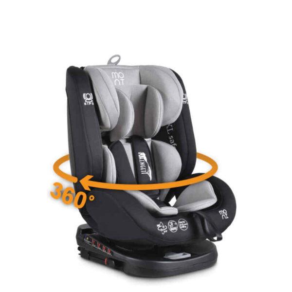 Κάθισμα αυτοκινήτου 0-36 κιλά Isofix Cangaroo Serengeti Grey 3801005150809 Με Δώρο Μαξιλάρι Στήριξης Κεφαλής