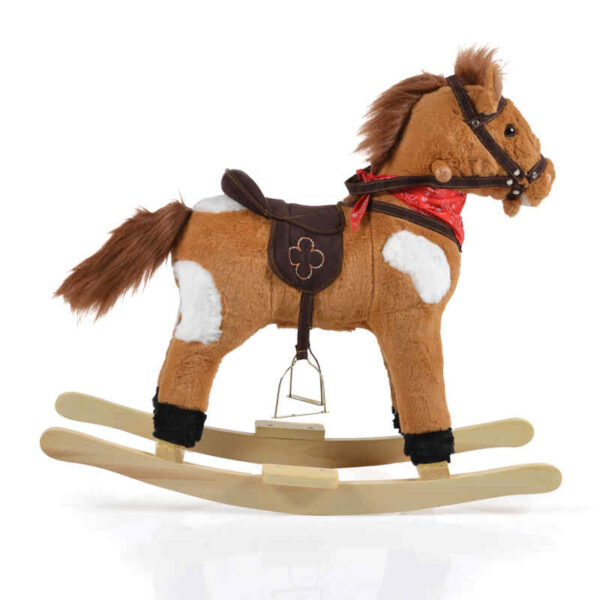 Κουνιστό αλογάκι Moni Horse Thunder khaki WJ-001 3800146230807